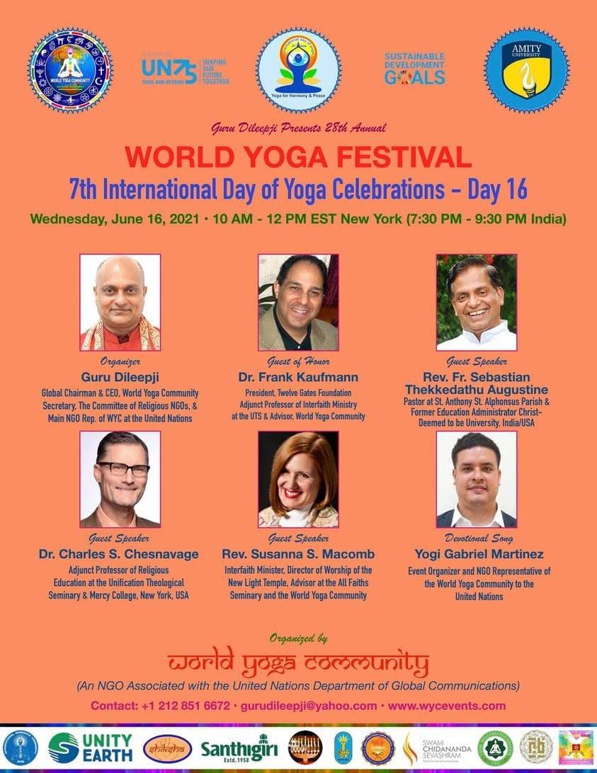 Twelve Gates Foundation President Speaks at the World Yoga Festival