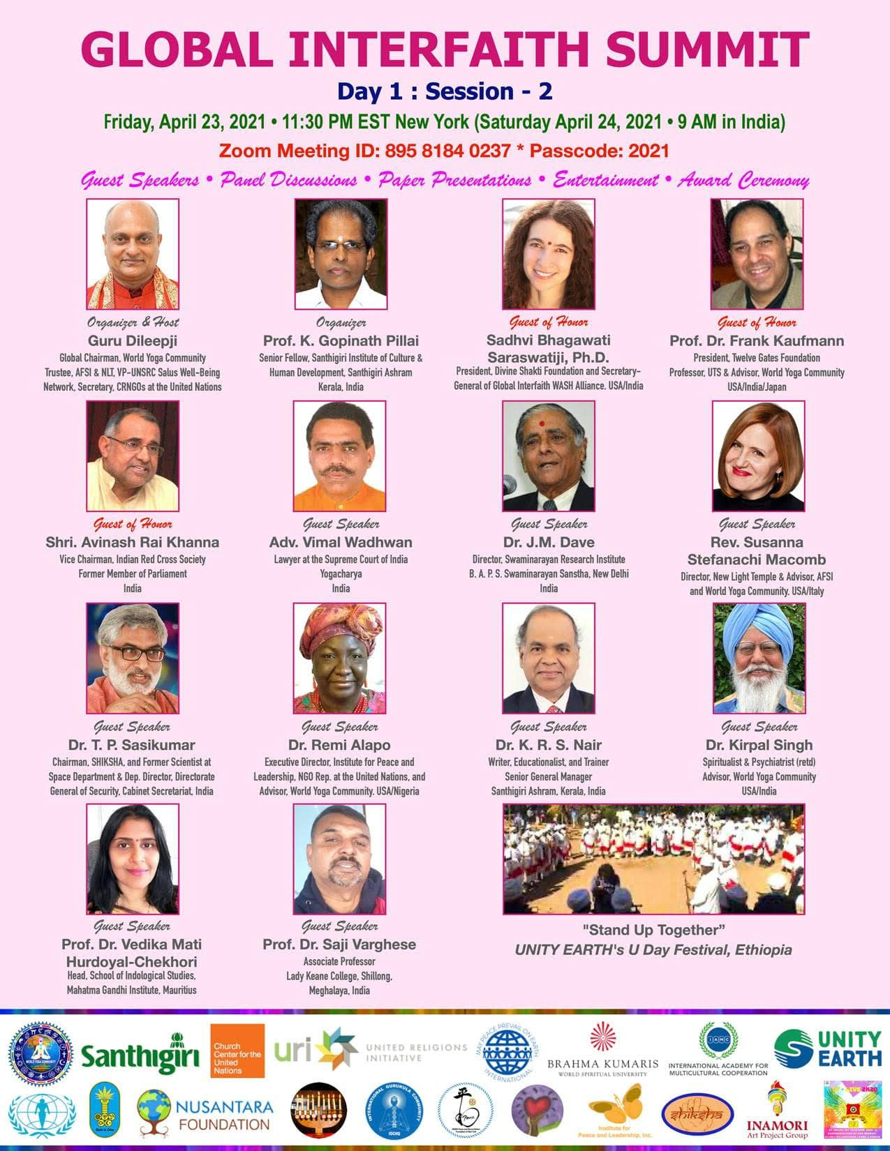 Twelve Gates Foundation President Presents Interfaith Paper at the Global Interfaith Summit